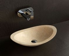 Nero - Designer Above Counter Natural Limestone Basin For Modern Luxury Bathrooms By Nova Deko