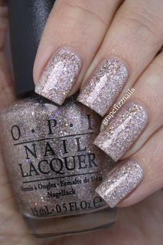 OPI Starlight Collection~Celesstial is More~Winter 2015 with two thick top coats.