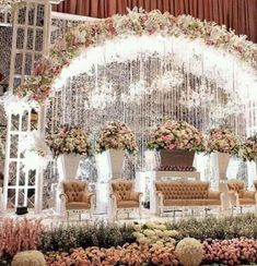 Trendy wedding decorations stage events 64 Ideas T Wedding Stage Decorations, Wedding Themes, Wedding Designs, Garden Wedding, Dream Wedding, Trendy Wedding, Wedding Dress, Luxury Wedding, Indian Flowers