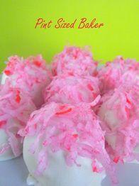 Pink Coconut Snowball Cake Truffle