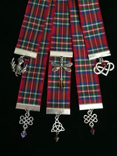 Outlander Inspired Tartan (Plaid) Ribbon Bookmarks Themed for All Eight Books