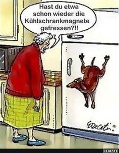 Hast du etwa schon wieder die Kühlschrankmagnete gefressen?! | Lustige Bilder, Sprüche, Witze, echt lustig