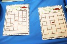 Mustache Baby Shower Bingo