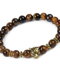 Leopard Animals Head Bracelets