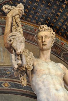 """In the Bargello Museum in Florence: """"Jason with the Golden Fleece,"""" by Pietro Francavilla (1548-1615)."""