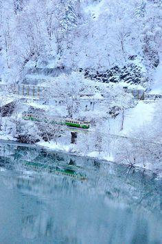 Wintertime Train in Japan