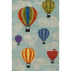 Shop for Momeni 'Lil Mo Hot Air Balloon Blue Rug. Get free shipping at Overstock.com - Your Online Home Decor Outlet Store! Get 5% in rewards with Club O! - 14800145