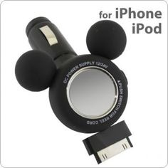 Disney Mickey/Minnie Mouse Digital Car Charger for iPhone/iPod (Mickey Mouse)