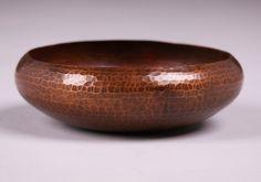 Small Dirk van Erp Hammered Copper Bowl. Excellent new patina. 6.25″d