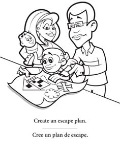 elementary safety coloring pages - photo#37