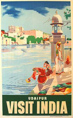 Vintage Indian Language Visit India Tourism Poster Print A3//A4