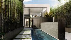 We made a series of renders for townhouse in San Francisco designed by MAK STUDIO.