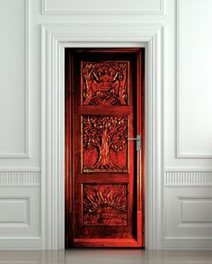 Door sticker - so cool! I want this for my room, scratch that....my CLOSET ;)