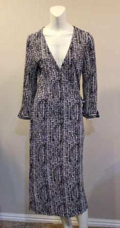 Banana Republic Medium Black White Wrap Career Dress in Clothing, Shoes & Accessories, Women's Clothing, Dresses | eBay