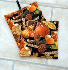 Potholders Kitchen hot pads handmade Vegetables by sewinggranny
