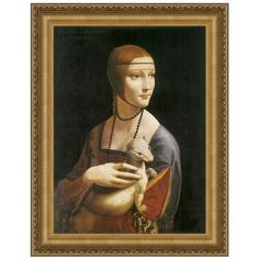 Design Toscano Lady with an Ermine, 1490 by Leonardo da Vinci Framed Painting Print Size: Medium
