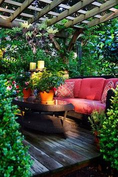 "12 Beautiful Home Gardens. I love the one with the hidden couch. Must have a ""hidden garden!"""