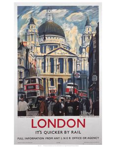 This NRM Officially Licensed vintage rail print is a faithful reproduction of the original posters that appeared in all the British Railway Stations up and down the land. This stunning picture was produced for London & North Eastern Railway (LNER) and depicts St Paul's Cathedral, London.