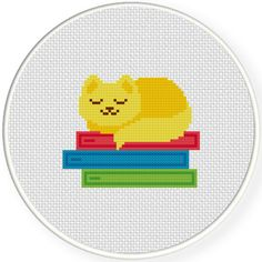 Charts Club Members Only: Cat Nap Cross Stitch Pattern