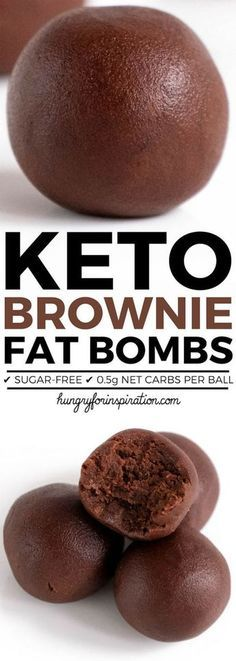 Low carbohydrate diet 759138080920414659 - These Velvety No Bake Keto Brownie Bites will wipe out your sweet cravings in no time! Easy Keto Chocolate Fat Bombs with almost zero carbs! (Only net carbs per ball! Keto Diet List, Starting Keto Diet, Diet Food List, Diet Foods, Diet Meals, Dukan Diet, Paleo Meals, Paleo Food, Raw Food