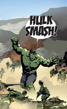 Hulk (Dr. Bruce Banner) (Savage Hulk persona) | art by Matteo Buffagni