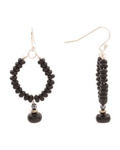 Sterling Silver Onyx And Hematite Earrings - Earrings - T. Sterling Jewelry, Sterling Silver, Hematite Jewelry, Tj Maxx, Pendant Necklace, Drop Earrings, Stylish, Fashion Design, Drop Earring