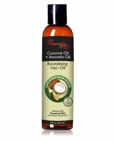 Coconut + Castor Oil for Hair, Hair Oil oz.) ~ Essential Oils for Hair Growth ~ Natural Ingredients Castor Oil For Hair, Hair Oil, Cedar Oil, Avocado Hair, Deep Conditioning Treatment, Essential Oils For Hair, Hair Growth Oil, Coconut Oil, Amazon