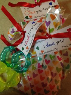 Teether Valentines's for infant daycare