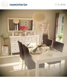 Love the big mirror love your home, girl house, dinning table, dining room, Room Inspiration, Interior Inspiration, Dinning Table, Dining Room, Love Your Home, Home And Deco, Cozy House, Home And Living, Sweet Home