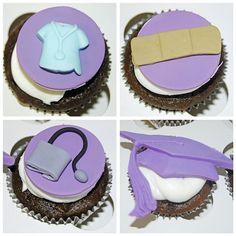 Graduation Cupcakes - great for medical graduation