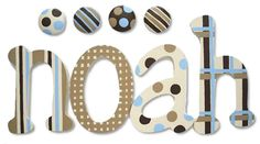 Cool Cappuccino Hand Painted Wall Letters