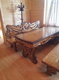 wood carving furniture
