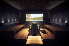 The Harvia Luminous fibre optic lights provide stylish lighting solutions for both saunas and steam rooms. The flexible fibre optics can be used to add a beautiful starry sky or various kinds of graphics to the ceiling or walls of your sauna.