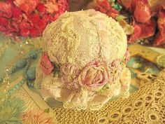 Have you ever seen such a beautiful lacy pincushion?