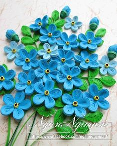 Quilling flowers, Forget-me-not quilling flower