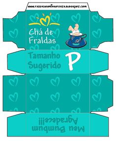 Convite Caixa Pampers para Chá de Fraldas! - Fazendo a Minha Festa