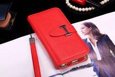 Buy Designer hermes iphone 6/6S Leather Case Cover Red