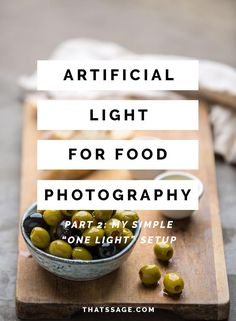 Learn how you can create two completely different lighting looks for your food photography, using just one light source and softbox. food photography tips The Simple Artificial Lighting Setups I Use For Killer Food Photography Photography Lighting Techniques, Food Photography Lighting, Food Photography Styling, Light Photography, Learn Photography, Product Photography, Creative Photography, Photography Composition, Photography Lessons