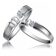 Personalised Engravable Yes I Do Zircon Couple Rings - $35.00