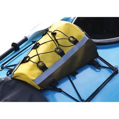 Kayak Deck Bag Attwood's Kayak Deck Storage Bag stores items for easy access while kayaking. The water resistant console fits safely and securely on your kayak deck. Offers zipper and stretch cord sto