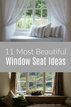 Window Seat Ideas for Every Room - The Most Beautiful Examples - Home Hacks Diy Hanging Shelves, Floating Shelves Diy, Wall Shelves, Home Interior, Interior Design, Design Design, Design Ideas, House Design, Diy Home Decor Projects