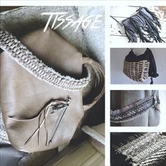 modern weaving methods are integrated into my leather bag collections