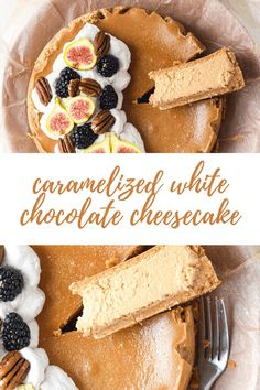 Sweet, nutty flavors meet in this super creamy cheesecake. White chocolate is toasted to a deep flavor and combined with a cream cheese filling. A deceptively simple process that requires no expertise. #cheesecake #caramelizedwhitechocolate #easyrecipes #easycheesecake #cheesecakerecipe Ultimate Cheesecake, How To Make Cheesecake, Cheesecake Recipes, No Bake Desserts, Delicious Desserts, Dessert Recipes, Yummy Food, Easter Recipes, Holiday Recipes