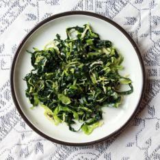 Sautéed Escargot Salad with Shaved Radish and Mustard Vinaigrette Recipe on Yummly