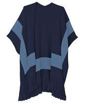 Colorblock Knit Kimono Navy | Echo Design