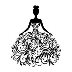 Vector silhouette of the young woman in an elegant wedding dress Stock Photo - 1707 . - Vector silhouette of the young woman in an elegant wedding dress Stock Photo – 17072764 - Vogel Silhouette, Silhouette Art, Woman Silhouette, Dress Silhouette, Wedding Silhouette, Elegant Wedding Dress, Wedding Dresses, Dresses Dresses, Illustration Mode