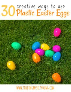 Finding Myself Young: 30 Games, Activities and Crafts to try with Plastic Easter Eggs. How to reuse plastic Easter eggs all year round. Literacy Games, Activity Games, Craft Activities, Easter Play, Egg Game, Plastic Easter Eggs, Easter Chocolate, Egg Hunt