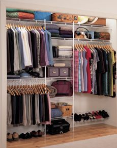 ClosetMaid - Shelf & Rod wardrobe interior packages LIKE THE HANGER LAYOUT…