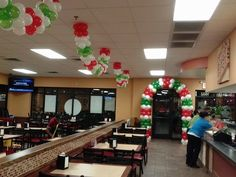 CiCi's Pizza set up 2014 using  Metal Ladder Back #Restaurant Chairs