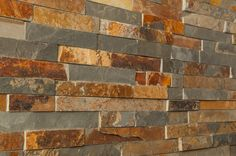"Stone Siding - Slate Collection - Autumn Mix / Ledge Stone 6""x24"""